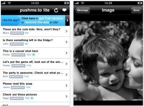 pushme.to app for iPhone