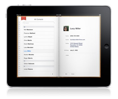 iPad contacts sync with gmail