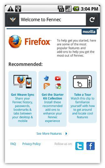Fennec for Android Phones: Mozilla Launches Pre-alpha Build