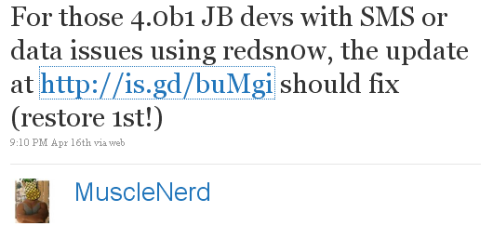 Redsn0w 0.9.5b2 Download available to Jailbreak iPhone OS 4b