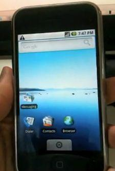 Android OS running on iPhone
