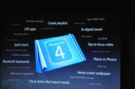 List of iPhone OS 4.0 Features Revealed