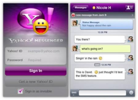 New Yahoo Messenger for iPhone: Windows Live Contacts Support