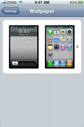 Change Wallpapers in iOS 4