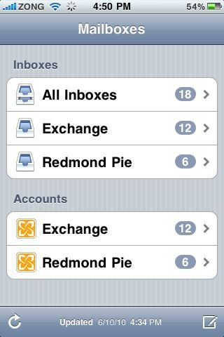 Mailboxes in iOS 4