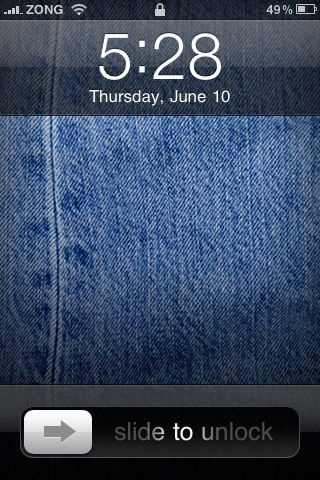 Lock Screen in iOS 4