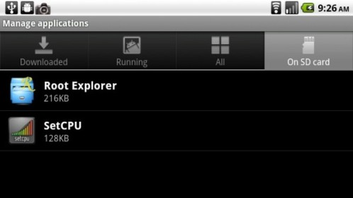 move apps in google nexus one and droid