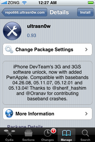 Ultrasn0w 0.93 Released to Unlock iOS 4 (iPhone 3G and iPhone 3GS) ultrasn0w 0.93