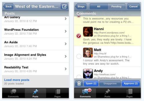 wordpress for iOS 4