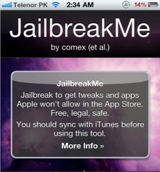 Jailbreak iPhone 3GS New Bootrom with JailbreakMe 2.0 [HowTo Guide]
