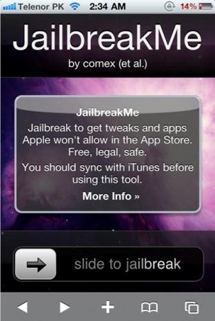 JailbreakMe 2.0 to Jailbreak iPhone 4, 3GS, 3G, on iOS 4.0/4.0.1