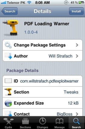 PDF Loading Warner Gives a Quick Fix to PDF Exploit in Safari on iOS 4.0/4.0.1