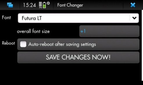 how to change fonts on N900