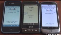 Web Browser Speed Test: iPhone 4 vs WP 7 vs Google Nexus One [video]