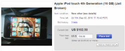 Jailbroken iPod Touch 4 / 4G Found on ebaY