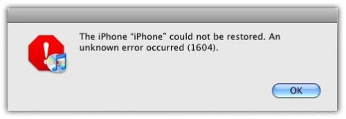 Image result for iPhone restore error 1600