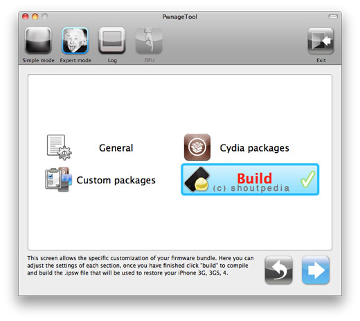 Jailbreak iOS 4.3 GM on iPhone 4 using Unofficial PwnageTool Bundle 73