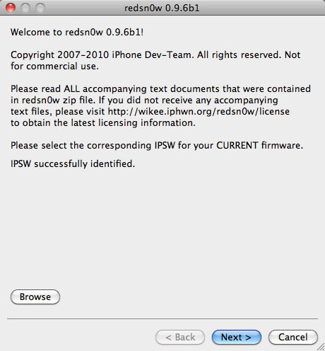 iOS 4.2.1 GM Jailbreak with Redsnow 0.9.6 b2 on iPhone 4, 3G, 3GS and iPod redsn0w 2