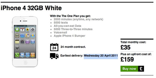 iphone 5 release date uk and price. Three UK lists an earliest