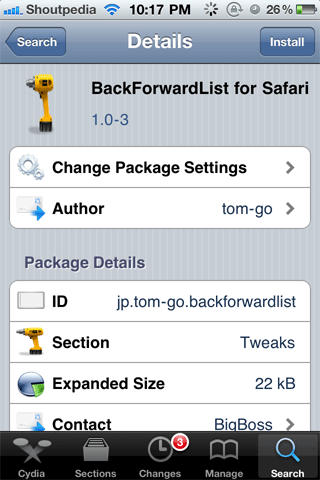 Back-forward-safari