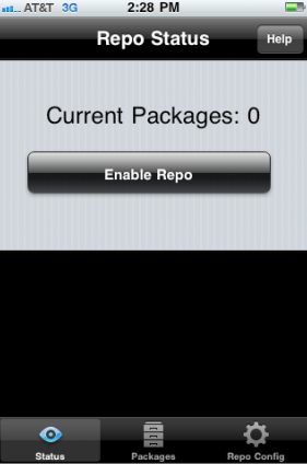 iRepo enter packages