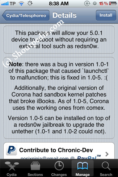 Corona 1.0-5 Update Released to Fix iBooks iOS 5.0.1 on iPhone, iPad and iPod Touch