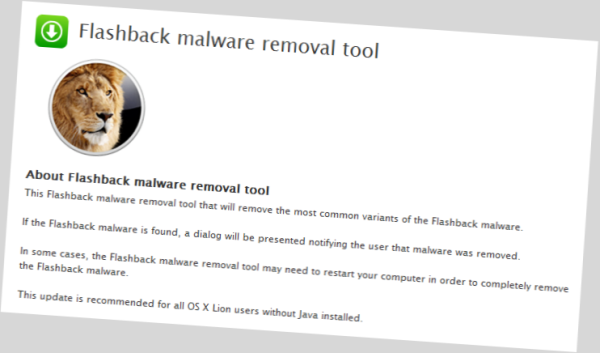 Apple Posts Separate Flashback Malware Removal Tool