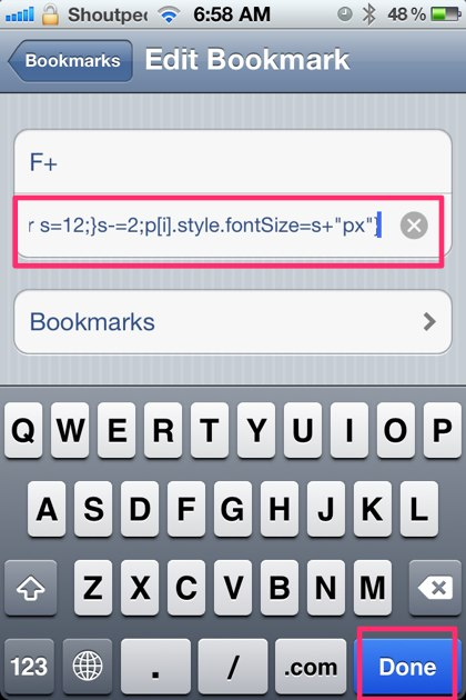 Cool iPhone Safari Bookmarklets Tricks to View Source Code, Use Firebug, Decrease and Increase Font Size of Webpages
