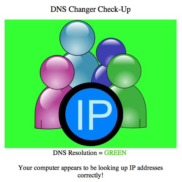 DNS Changer Check-Up - Clean