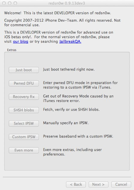 iPhone Dev Team Releases Redsn0w 0.9.13 Dev 3 to Jailbreak iOS 6.0Beta3