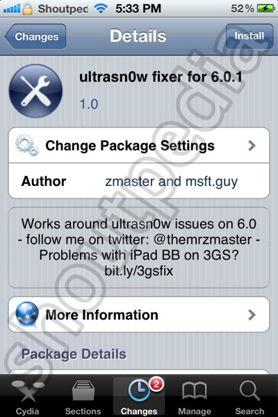unlock iOS 6.0.1 Ultrsn0w Fixer