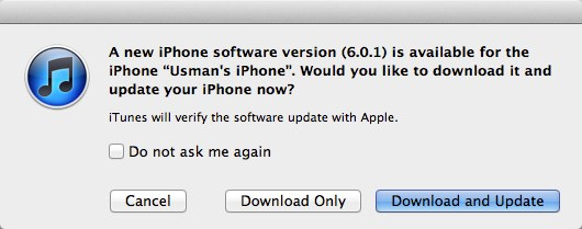 Download iOS 6.0.1 for iPhone 5, iPad and iPod Touch Devices