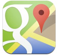 Google Maps for iPhone 3GS, iPhone 4, iPhone 4S, iPhone 5, iPod touch (3rd generation), iPod touch (4th generation), iPod touch (5th generation) and iPad on the iTunes App Store