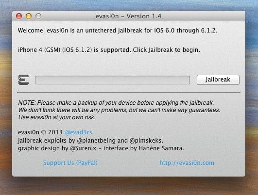 evasi0n - Version 1.4