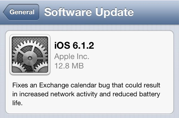 iOS 6.1.2 Released to Patch Exchange Calendar Bug – Download Now