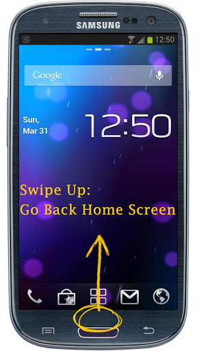 Swipe Home Button – Zephyr Like App for Android