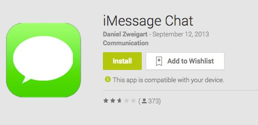 iMessage App for Android Available in Play Store, Sends Messages Across All Devices