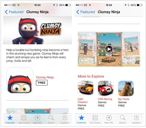 """First Video Trailer of the iOS App """"Clumsy Ninja"""" Lands on the App Store"""