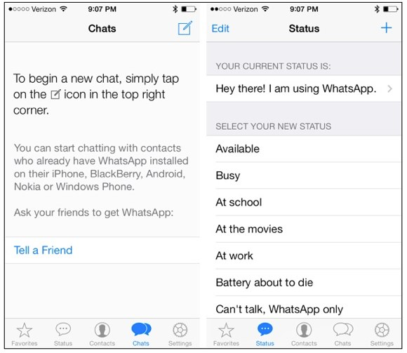 WhatsApp updated iOS 7 download