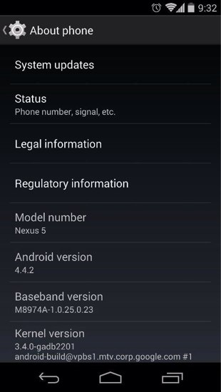 android 4.4.2 for nexus 5