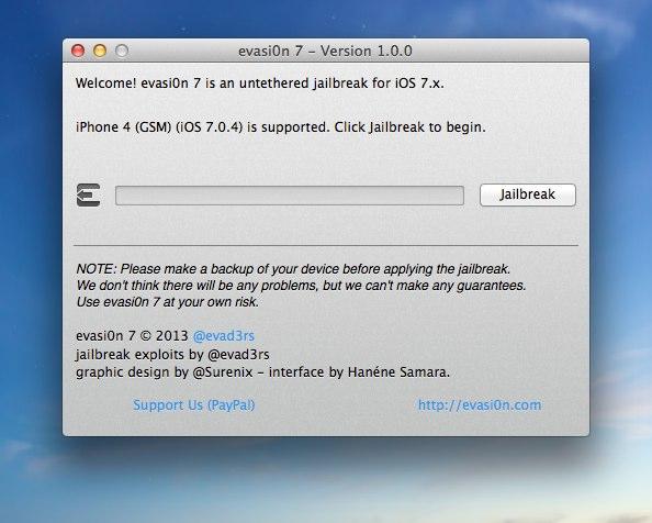 evasi0n 7 - Version 1.0.0
