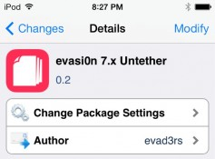 Now You Can Install Evasi0n 7 Updates using Cydia's Default Repo