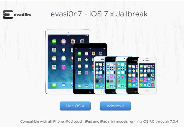 evasi0n iOS 7.x Jailbreak - official website of the evad3rs