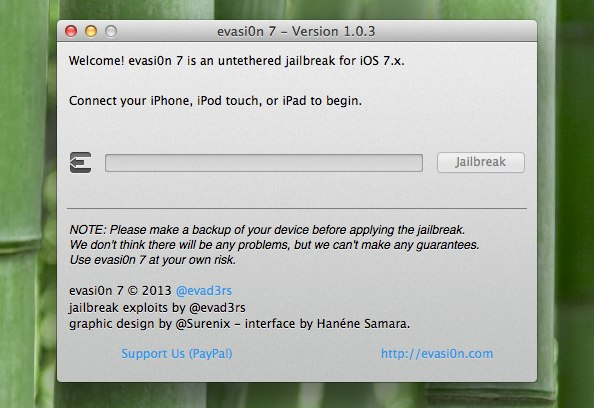 evasi0n 7 - Version 1.0.3