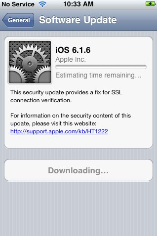 iOS 6.1.6 for iPhone 3GS and iPod Touch 4G