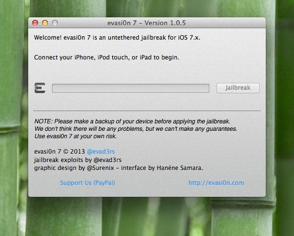 evasi0n 7 - Version 1.0.5