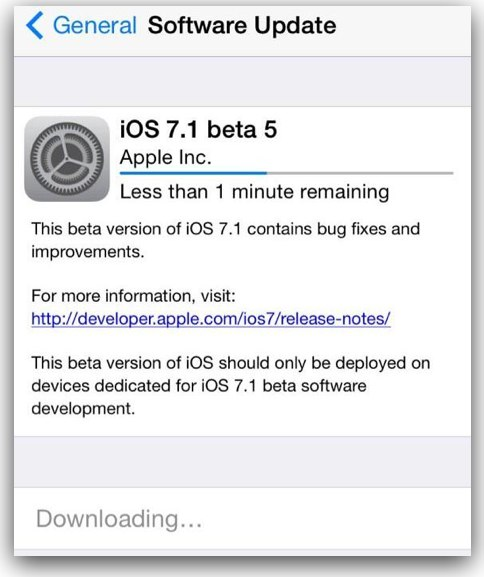 Apple Releases iOS 7.1 Beta 5, Here is What's New in It – Direct Download Links