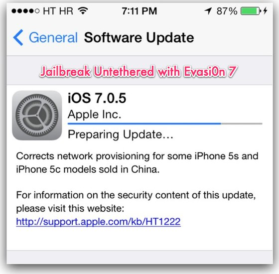 Official Evasi0n 7 1.0.5 to Jailbreak iOS 7.0.5 Untethered Now Available for Download