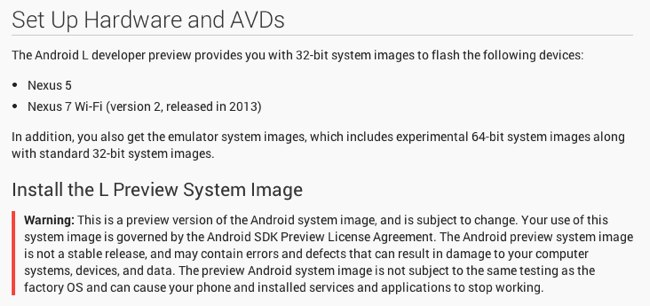 download android L
