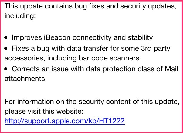 iOS 7.1.2 changes